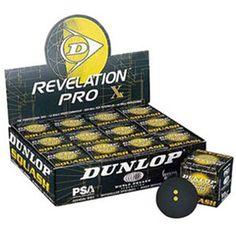 DUNLOP Revelation Pro Competition Squash Balls (Double Yellow Dot)