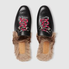 814dc0aaaf3 Gucci Men - Princetown leather slipper with snake - 429054DLC501063 Gucci  Snake Shoes