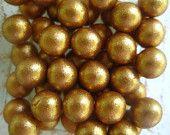 Edible fondant pearls (6mm) 500 AZTEC GOLD. $19.99, via Etsy.