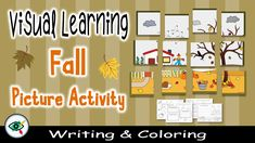 """Fun learning about the Fall season with the """"Fall visual activity"""", combines visual learning, observation, reading comprehension, fine motor reinforcement, creative writing, and creativity. Suitable for grades 2 and grade 3. Elementary Teacher, Primary School, Elementary Schools, Seasons Activities, Autumn Activities For Kids, Visual Learning, Fun Learning, Grade 3, Second Grade"""