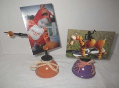 Vintage Oil Can Upcycled Halloween Photo / Message by CBEUsedBlues