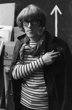 Guitarist Paul Kantner of the rock group Jefferson Airplane backstage before their debut concert at Cafe au Go Go on October 20 1967 in New York City...