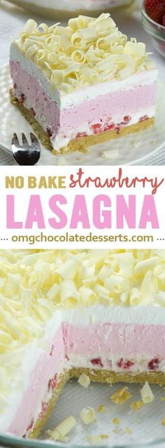 No Bake Strawberry Jello Lasagna is quick and easy dessert recipe for refreshing summer sweet treat and use only few ingredients.
