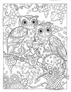 Manners Coloring Books Owls Butterflies Whimsical Mandalas Crayon Art Vintage Owl