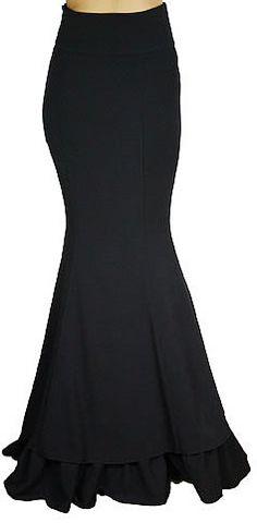Gothic Fishtail Corset Victorian Skirt