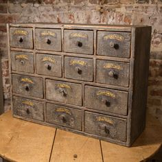 Wonderful small bank of drawers in original 19C paint decoration from DC member Spencer Swaffer