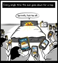 Every single time the sun goes down for nap - The Oatmeal