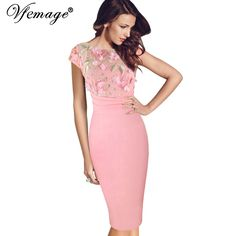 Cheap woman elegant, Buy Quality sexy party directly from China elegant women Suppliers: Vfemage Women Sexy Elegant Floral Applique embroidery Ruched Party Sheath Special Occasion Bridesmaid Mother of Bride Dress 3197