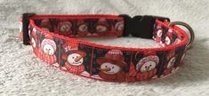 Snowman Design Dog Collar for Medium to Large Dogs Handmade Dog Collars, Large Dogs, Dog Design, Rescue Dogs, I Love Dogs, Cool Things To Make, Fur Babies, Snowman, Cool Designs