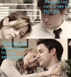 The Office - Jim and Pam season one to the finale Best Tv Shows, Best Shows Ever, Favorite Tv Shows, Office Jokes, Office Tv, Jim Halpert, The Office Show, The Office Season 9, The Office Finale