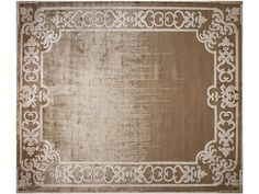 Tapis fait main rectangulaire MARQUISE SHADOW TOBACO Collection Renaissance by EDITION BOUGAINVILLE