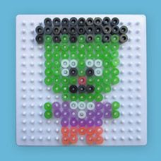 Frankenstein craft using Melty Beads