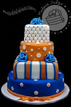 Gators Graduation Cake | Ph.D.-serts & Cakes
