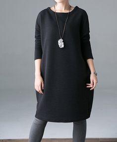 Gray Cotton Oversize Loose Long dress от MaLieb на Etsy