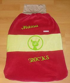 Babyschlafsack, Babypucksack, Babyfußsack, Babystrampelsack, Mama ROCKS