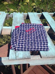 Anchor red minky baby blankie handmade custom