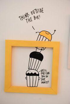 Creatief - Wanneer je ''out of the box'' denkt wek je vaak creatieve ideeën op. Wanneer je op goede ideeën komt geeft dat het gevoel van nieuwe kansen.