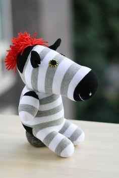 T8 Stuffed Zebra doll toy plush Colored zebra door Toyapartment