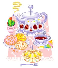 Skeleton bakery ~ coffee, conchas & a lemon kind of pie