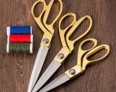 Vintage Stainless Steel Makas Embroidery Craft Scissors For Sewing Fabric Clothes Tailor Scissors Gold Sharp Blade Accessory Tailor Scissors, Sewing Scissors, Fabric Scissors, Knitting Machines For Sale, Finger, Sewing Essentials, Modern Crafts, Buy Fabric, Gold
