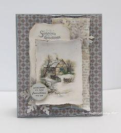 Glistening Season. . .using Pion Winter Christmas collection