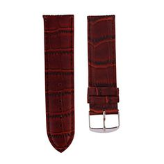 AMA(TM)12mm Genuine Leather Waterproof Watch Band Strap Fit All Watches Coffee