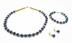Royal Blue Jewelry Set by kiddercreations on Etsy, $65.00