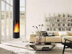 Moderne vrij hangende haard cilinder, ronde vorm | Profires partner Open-Haarden Centrum Vlaardingen · inspiratie voor sfeerverwarming