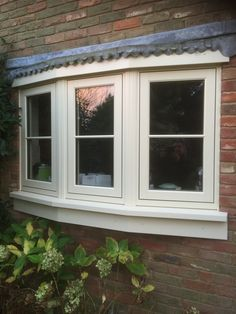 Clotted Cream Residence 9 Bay Window installed by Fenland Windows Upvc Windows, House Windows, Windows And Doors, Bay Windows, Bay Window Design, Window Detail, Clotted Cream, Through The Window, Next Door