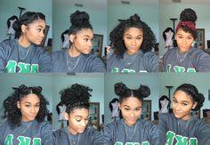 Natural hair | 8 Bun Styles for Curly Hair