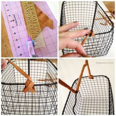 DIY Wire Baskets Leather Handle