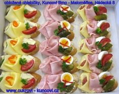 Centrum.sk email - 271 Neprečítaných správ Snacks Für Party, Party Treats, Appetizers For Party, Vegetarian Recipes, Cooking Recipes, Party Buffet, Appetisers, Canapes, Finger Foods