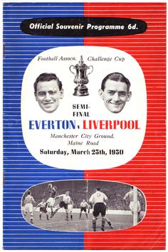 FA Cup semi-final v Everton at Maine Road. March 25 1950