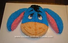 Homemade Eeyore Birthday Cake Design: I got my inspiration for this Eeyore Birthday Cake Design from K Walters, thank you so much! I have twin boys and one loves Eeyore and one loves Pooh.