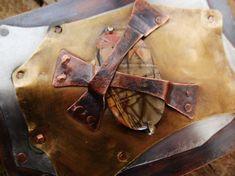 Red Creek Jasper Cabochon Stacked Metal Belt by MadiJAXmetals