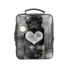Steampunk, heart, clocks and gears Square Backpack (Model1618)
