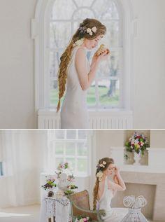 Beautiful bridal hair style