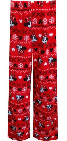 WebUndies.com Disney's Minnie Mouse Red Plush Plus Size Loungepant