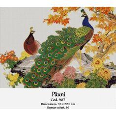 Pauni Cross Stitch Kits, Peacock, Bird, Embroidery, Peacock Bird, Peacocks, Birds