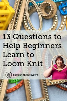 Get the Best Start Loom Knitting with Answers to These 13 Questions - - I wish I'd asked these questions a decade ago when I first picked up a loom. Get the best start loom knitting by learning from my mistakes. Knitting Loom Socks, Loom Knitting Stitches, Loom Knit Hat, Knifty Knitter, Loom Knitting Projects, Knitting Videos, Easy Knitting, Knitting For Beginners, Loom Knitting Blanket