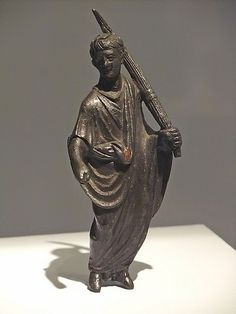 Statuette of a Lictor with bundle of rods Roman 1st century CE Bronze