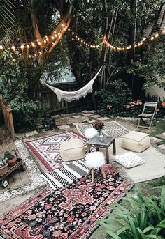 Awesome Moroccan party decor bohemian backyard party hammock outdoor rugs poufs The post Moroccan party decor bohemian backyard party hammock outdoor rugs poufs… appeared first on Wow Decor ..