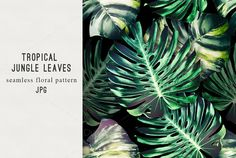 Jungle leaves seamless pattern @creativework247