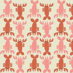 Blend+Fabrics+-+Crabtastic+-+Lobster+Ivory+von+LoveDeal+-20%+Rabatt+auf+alle+Stoffe+auf+DaWanda.com