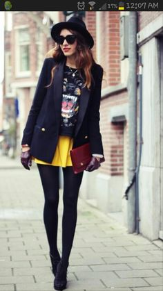 Givenchy+ yellow skirt