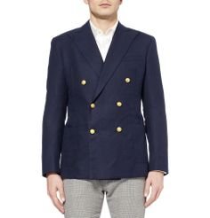 Ovadia & Sons - Slim-Fit Woven-Wool Double-Breasted Blazer | MR PORTER