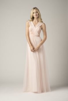 Wtoo Bridesmaid #852i Infiniti Wrap Dress in Ice Pink