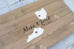 Custom Two State Guest Book Alternative Wood von AmandaGdesigns