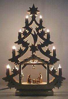 Nativity Scene Tree Arch-limited Edition Hand Crafted Sculpture By Mic
