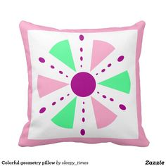 Colorful geometry pillow  #pillow #zazzle http://www.zazzle.com/sleepy_times